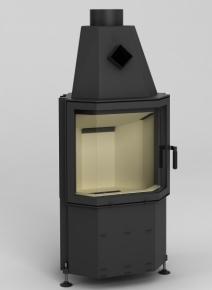 Hajduk PRISMA M wysokość drzwiczek 510mm lewe lub prawe szyba panoramiczna gięta LX ZŁOTY LX CHROM LX MOSIĄDZ